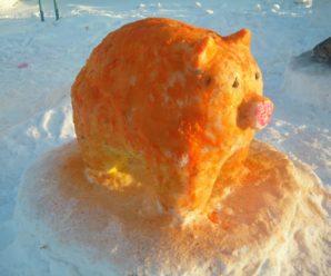 Участие филиала ГБПОУ СМК с.Стерлибашево в конкурсе снежных фигур